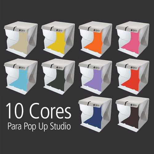 Kit Color Com 10 Cores De Fundo Infinito Para Pop Up Studio