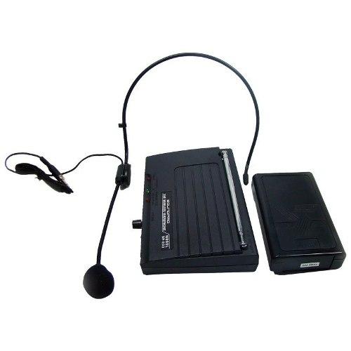 Microfone Auricular e Lapela Sem Fio 30 Metros - SP200HS
