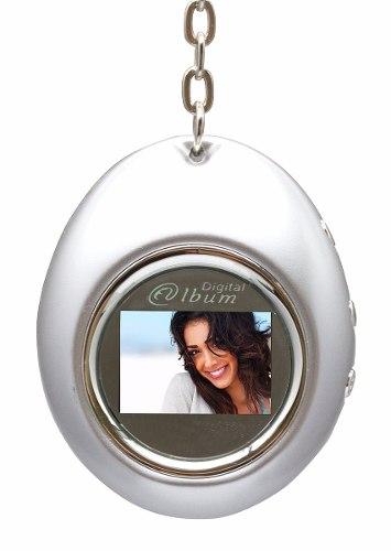 """Porta Retratos Digital Chaveiro D-Concepts Com LCD De 1.1"""" E Relógio - 12490-cl"""