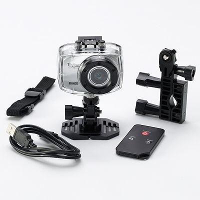 Câmera E Filmadora De Ação Vivitar Full HD Com Caixa Estanque E Suportes - DVR787HD