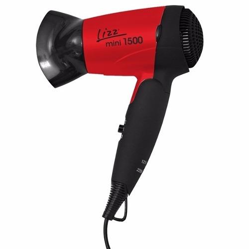 Mini Secador Lizz Vermelho 1500 Bivolt para Viagem Dobrável Vermelho - YY2000A/B