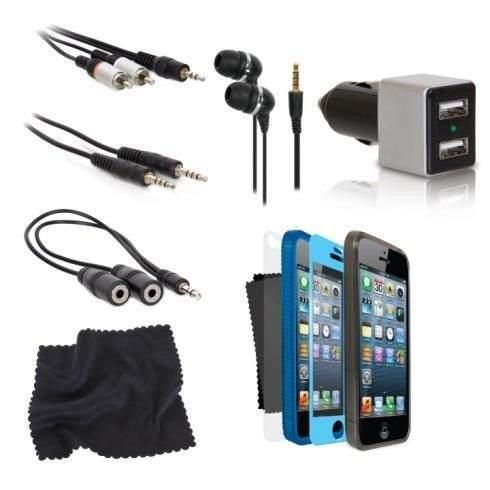 Kit Conjunto Iphone 5 com 12 acessórios - ISOUND5312