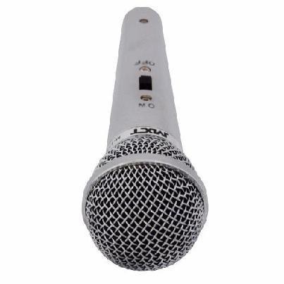 Microfone Profissional Prata Unidirecional Cabeado - Mk-5