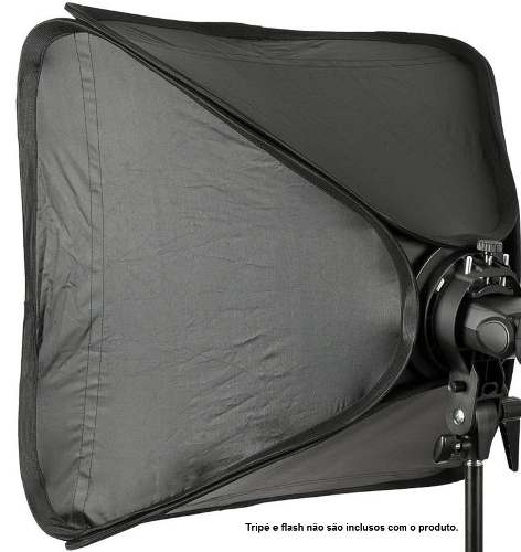"Softbox Para Flash Dedicado 60x60cm Speedlight Dobravel Com Tela Difusora ""SpeedLite"" -  SFUV60X60"
