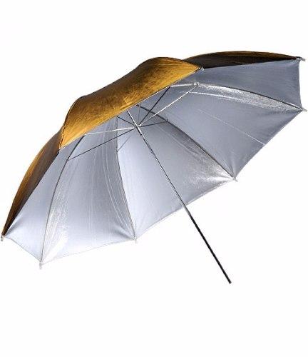 Sombrinha Refletora Dourada E Prata 91cm - PUR-04