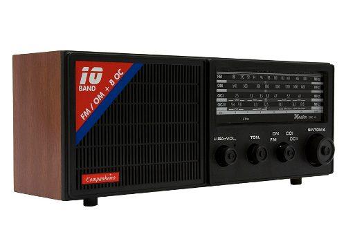 Radio Madeira Cabeceira Retro Vintage 10 Faixas Crc-41