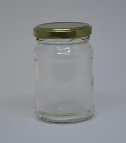 24 Potes De Vidro De 180ml - Tampa Metalizada - Para Patês, Brindes, Confetis, etc