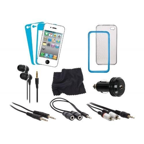 Kit De 12 Acessórios Isound Para iPhone 4 - DGIPOD1577