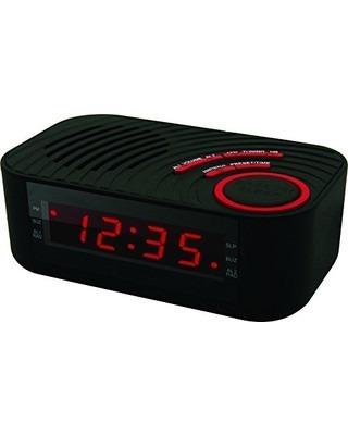 Rádio-Relógio Digital Coby Com Led 2 Alarmes E Entrada Auxiliar - CBCR100