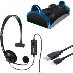 Kit Dreamgear Com Headset Base Carregadora E Cabo De Carga Para PS4 - DGPS4-6411
