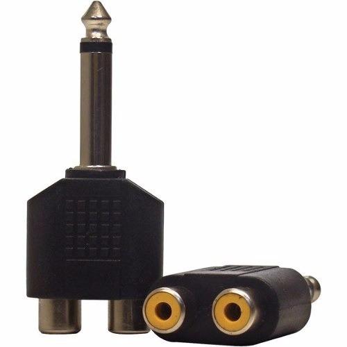Adaptador RCA Stereo Para P10
