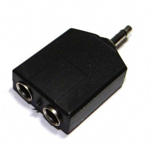 Plug Adaptador 2 P10 Femea Para 1 P2 Mono - Macho
