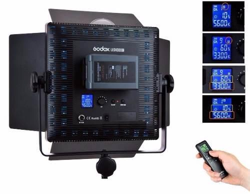 Iluminador De Led Godox Luz Continua Digital Com Controle - LD1000C