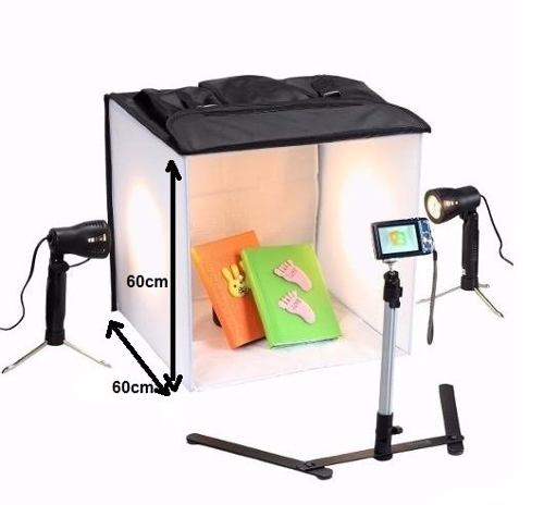 Mini Estúdio Fotográfico Portátil Iluminação Day Light Flash PB06 - 110v