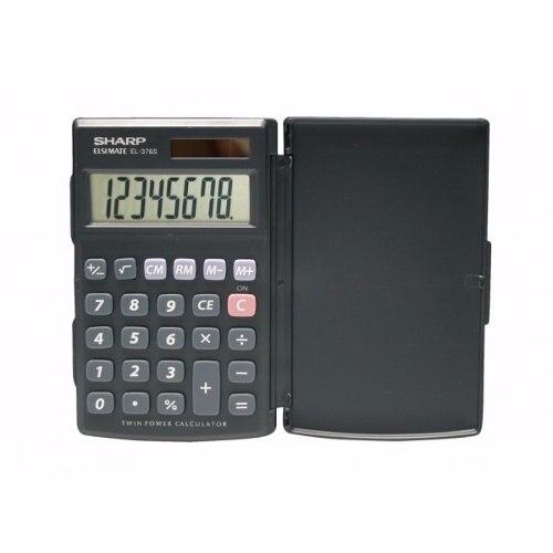 Calculadora Básica Sharp Com Tampa Protetora El376sbk