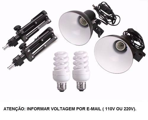 Mini Estúdio Completo Com Tenda de 60x60cm + Kit Luz KIT - PK-L45 220v