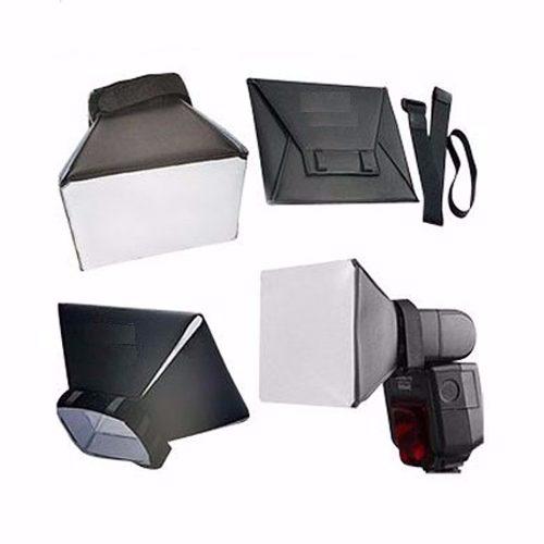 Mini Softbox Universal Dobravel Difusor Dobrável Para Flash - DOBRÁVEL