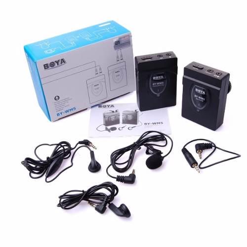 Microfone Boya Sem Fio 2.4ghz Mic Dslr Nikon Canon - By-Wm5