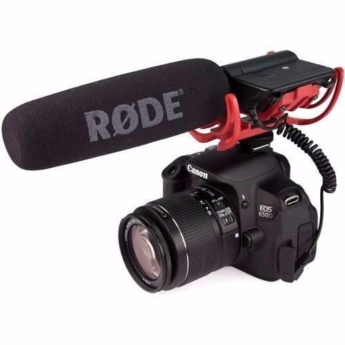 Microfone Super Direcional Rode Profissional Para Camera Dslr Nikon Canon - VIDEOMIC