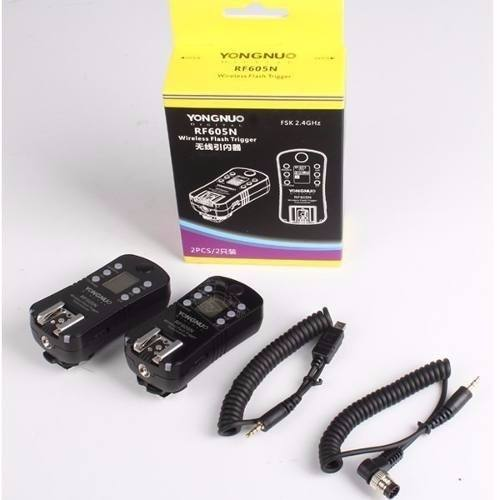 Kit Com 2 Radio Flash Yongnuo Nikon -  Rf605n