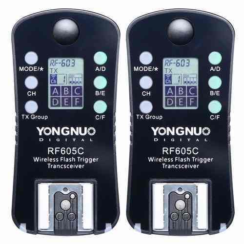 Kit Com 2 Radio Flash Yongnuo Canon - Rf605c