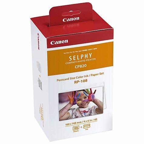 Kit Cartucho E Papel Fotográfico Para Impressora Canon Original - RP108