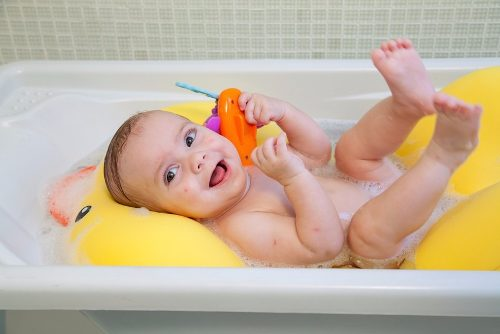 Almofada Para Banho Do Bebê Pato Joy Baby Pil - Pato Amarelo