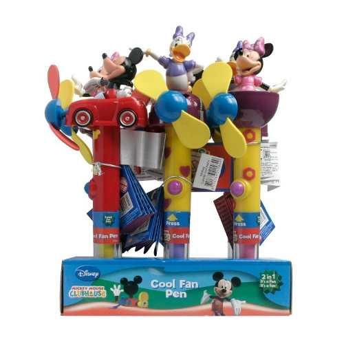 Display Com 6 Canetas Personagens Da Disney - Bip 0621249 Sp