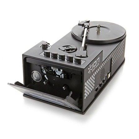 Toca Discos E Fita K7 Portátil Com Alto Falante E Conversor Digital PC MP3 DUODECK