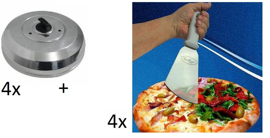 4 Raspadeiras + 4 Abafadores de Pizza