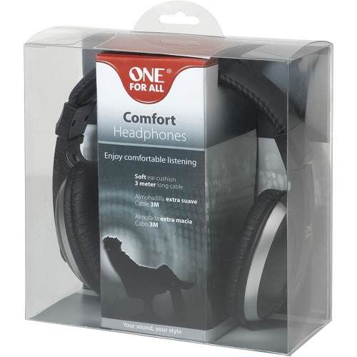Fone De Ouvido Tipo Headphone One For All Original Preto Full Size Comfort - Sv5620