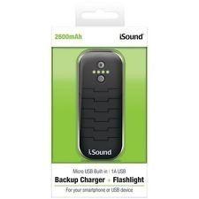 Bateria Portátil  Isound De 2.600 mAh Com Cabo Micro USB e Porta USB - ISOUND6218