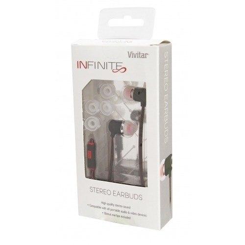 Fone De Ouvido Vivitar Earphone Com Microfone - V13386-cri