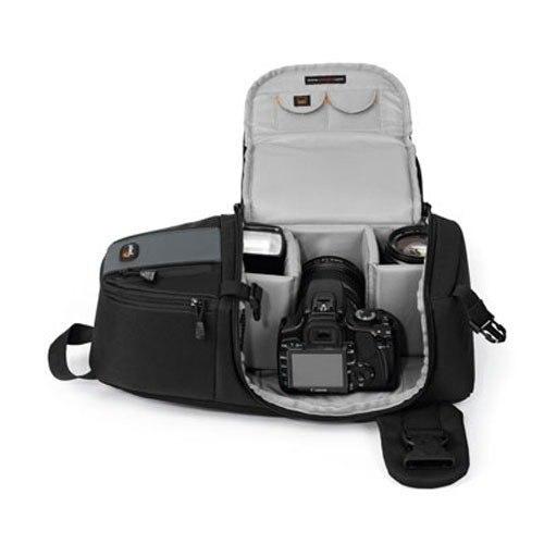 Mochila LowePro Cinza Para Câmera Digital DSLR Lente Acessórios - Lp36172