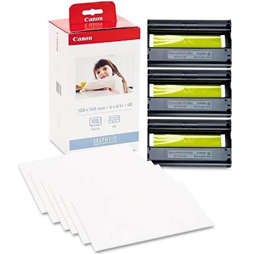Kit Tinta E Papel Fotográfico Para Impressoras Canon Linha Selphy KP108IN