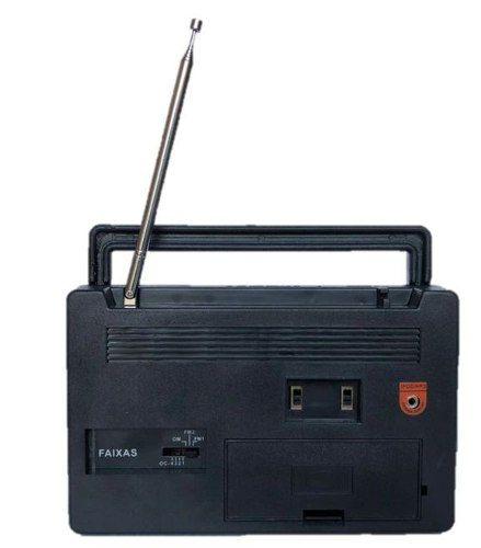 Radio Vintage Retro Preto De Mesa 6 Faixas Crp-61 - FULLFILMENT VENDAS