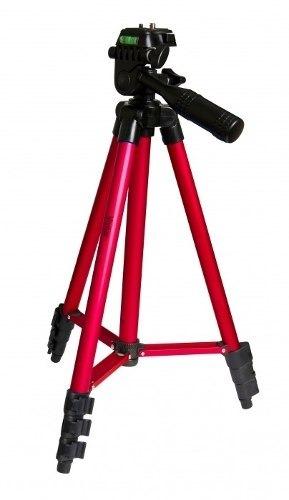 Tripé Vivitar Metálico Vermelho Com Extensão Até 1,27m - Vivmpt400