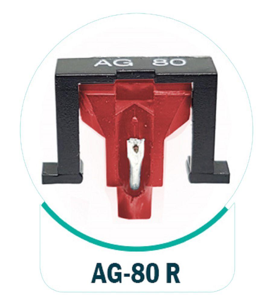 Agulha AG-80 Rubi Original Leson Para Toca Disco e Vitrola - AG-80R