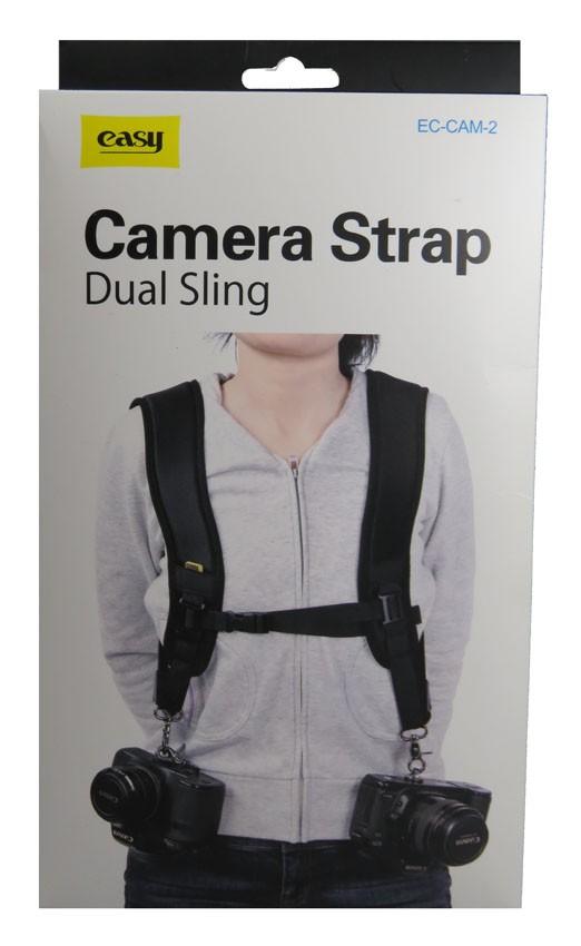 Alça Dupla Easy Para Câmeras DSLR Canon Nikon Sony - EC-CAM-2
