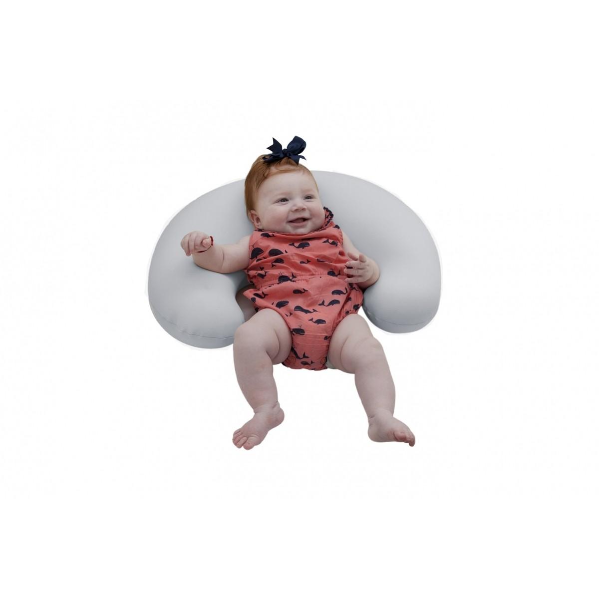 Almofada Para Amamentação Baby Pil Milky - Baby Cinza