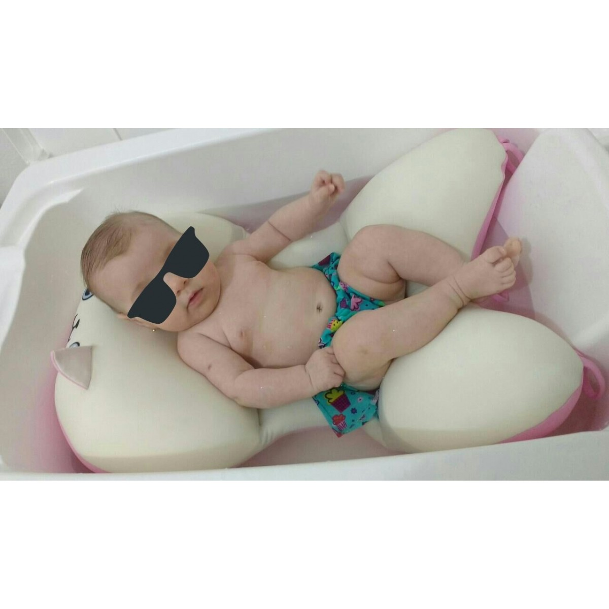 Almofada Para Banho Do Bebê Gatinha Baby Pil - Ágata