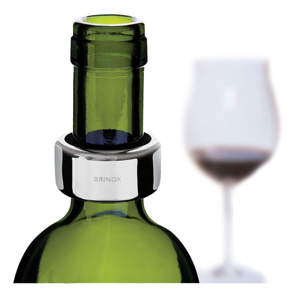 Anel Aço Inox Para Garrafa de Vinho - 2310-302