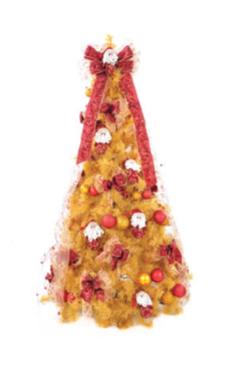 Árvore De Natal Pinheirinho Grande Amarelo Outono 1,80 Metro 757 Galhos - Oca 4