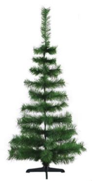 Árvore De Natal Pinheirinho Grande Verde 1,25 Metro 56 Galhos - Shangai 4