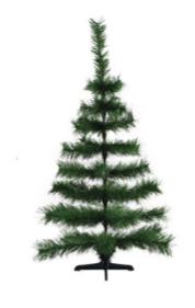 Árvore De Natal Pinheirinho Grande Verde 1 Metro 41 Galhos - Shangai 3