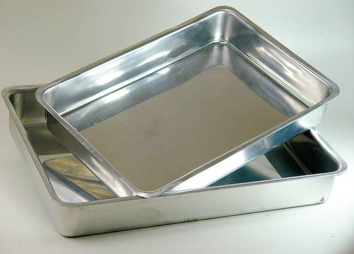 Assadeira Retangular Alta Nº 5 Alumínio - 29,5X43X6,5 - 03.A5