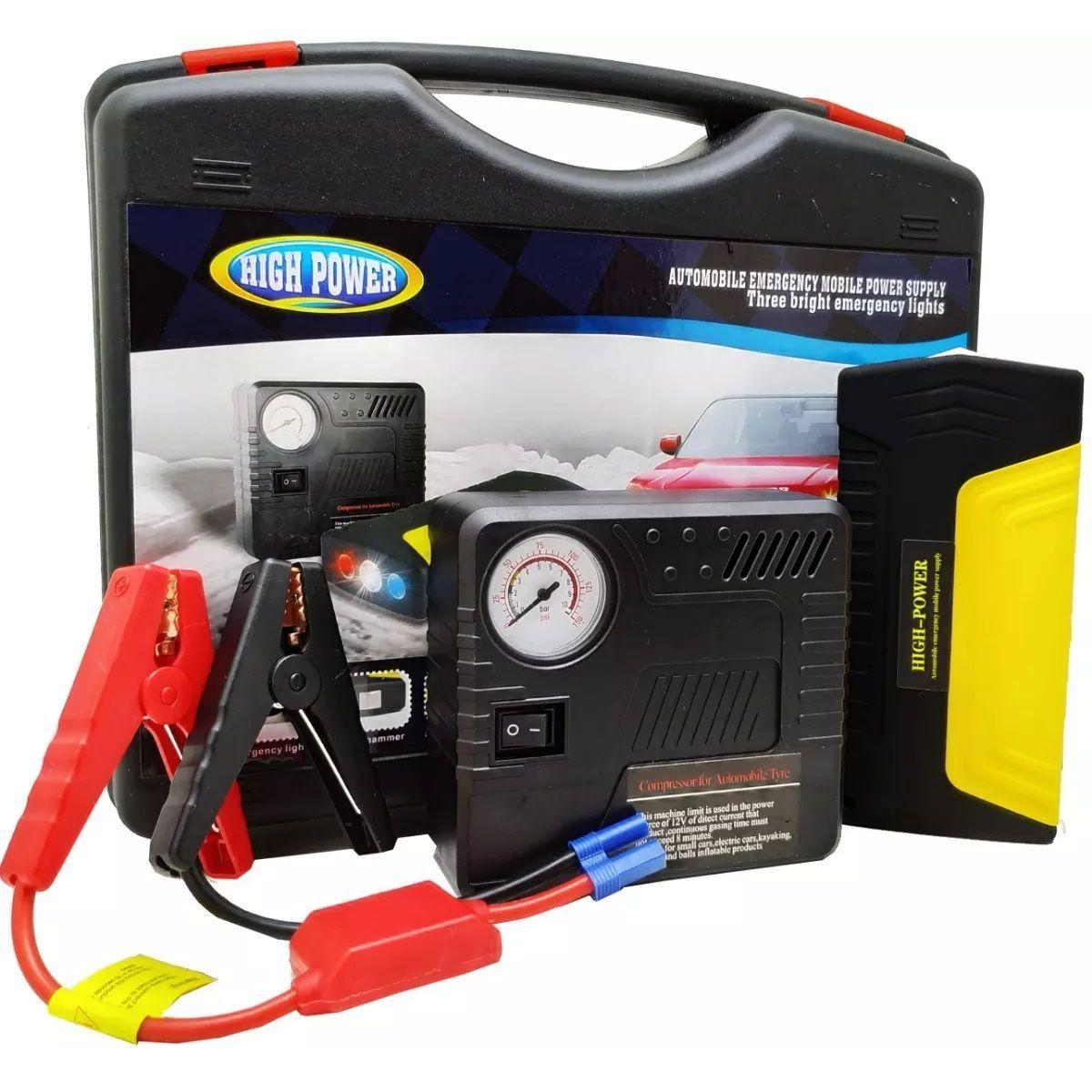 Auxiliar de Partida Bateria de Emergência PowerBank Portátil - AUXP