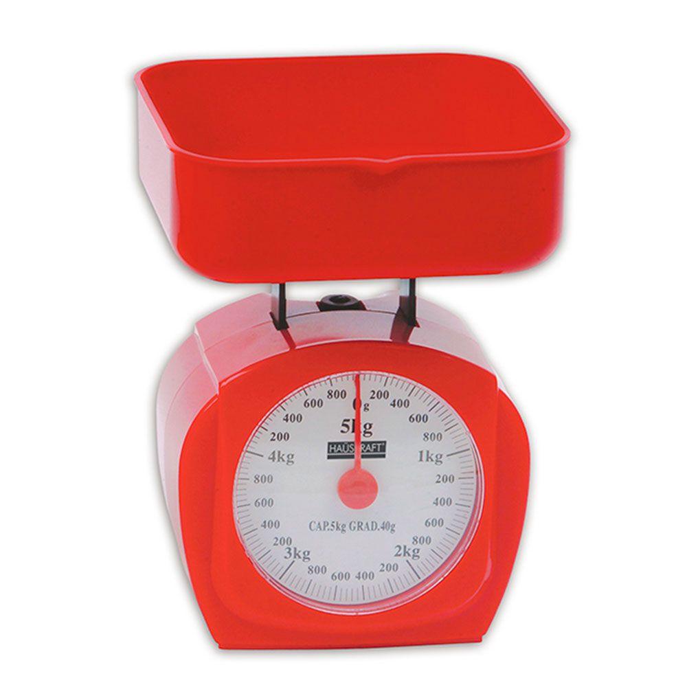 Balança De Cozinha 5kg Vermelho - Blca-005vm