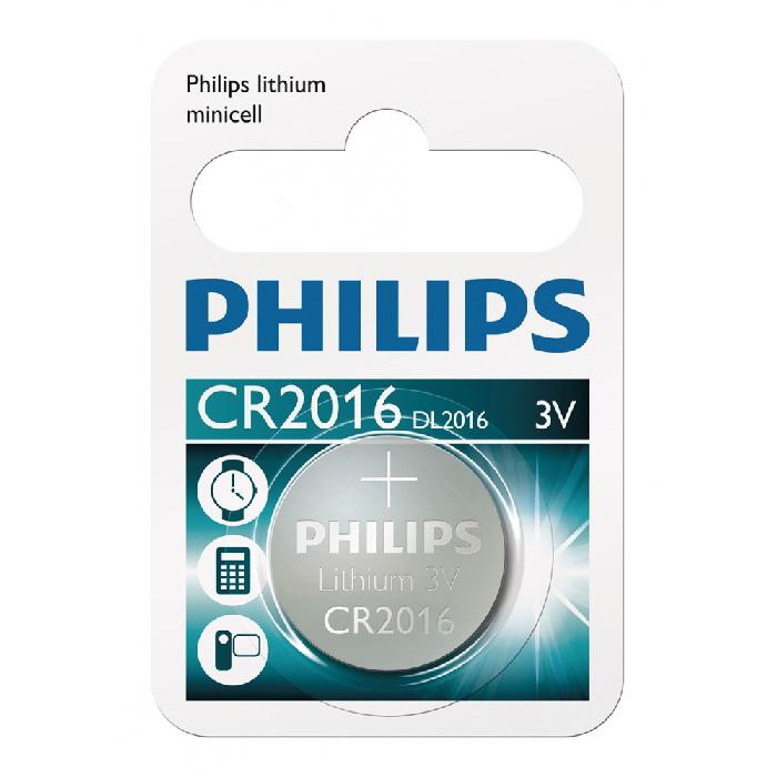 Bateria Tipo Botão Philips - Cr201601b