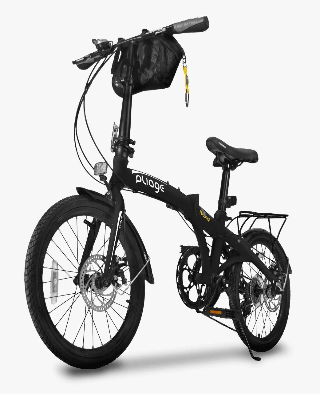 Bicicleta Desmontável Preta Two Dogs - Pliage